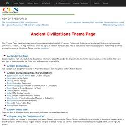 Ancient Civilizations Theme Page