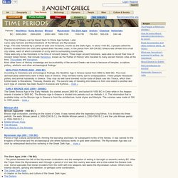 Ancient Greece - History of Ancient Greek World, Time Line and Periods, Archaic, Classical, Hellenistic.