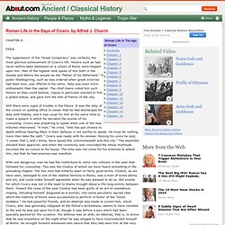 Ancient / Classical History E-Text of Roman Life in the Days of Cicero, by Alfred J. Church