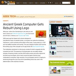 Ancient Greek Computer Gets Rebuilt Using Lego - PCWorld