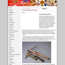 Ancient China Crossbow Facts, Ancient Chinese Crossbow History
