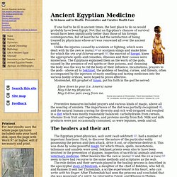 Ancient Egypt: Medicine