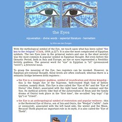 ANCIENT EGYPT : The Eyes
