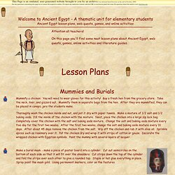 Ancient Egypt Thematic Unit - Ancient Egypt Lesson Plans
