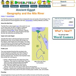 Ancient Egyptian History for Kids: Geography and the Nile River