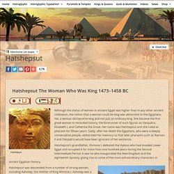 ancient egyptian kings queens hatshepsut