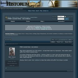 PTSD in ancient times - new evidence - Historum - History Forums