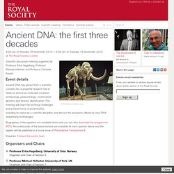Ancient DNA: the first three decades