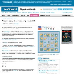 Ancient puzzle gets new lease of 'geomagical' life - physics-math - 24 January 2011