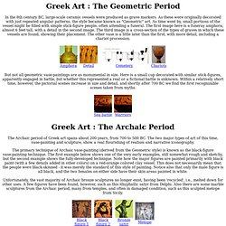 Ancient Greek and Roman Art
