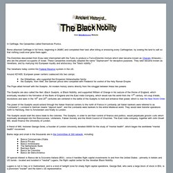 Ancient  History of The Black Nobility