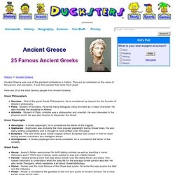 Ancient Greek History for Kids: 25 Famous People of Ancient Greece