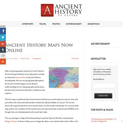 Ancient History Maps Now Online