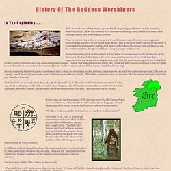 Ancient Pagan History of the Goddess Worshipers