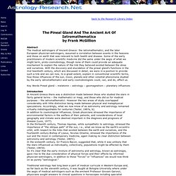 The Pineal Gland And The Ancient Art Of Iatromathematica