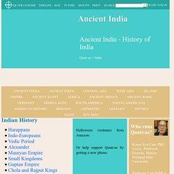 Ancient India - History of India - Quatr.us