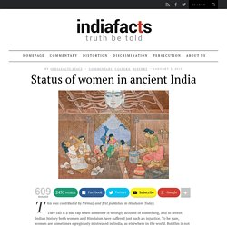 Status of women in ancient India