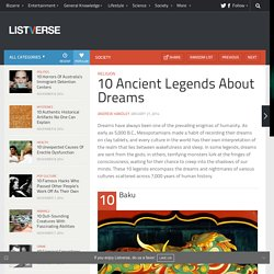 10 Ancient Legends About Dreams