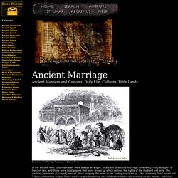 Ancient Marriage - Background Bible Study