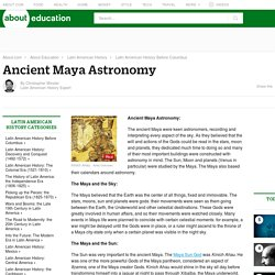 Ancient Maya Astronomy - the Sun, Moon and Planets
