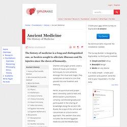Ancient Medicine - The History of Medicine