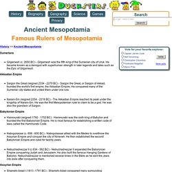 Ancient Mesopotamia: Famous Rulers of Mesopotamia