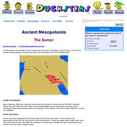 Ancient Mesopotamia: Sumerians for Kids