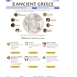Ancient Greece - History, mythology, art, war, culture, society, and architecture.