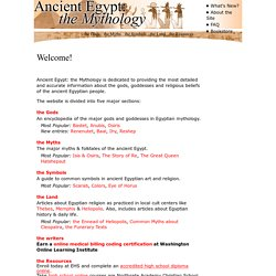 Ancient Egypt: the Mythology and egyptian myths