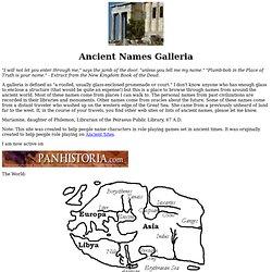 Ancient Names Galleria