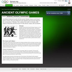 Ancient Olympic Games, First Olympics in Olympia