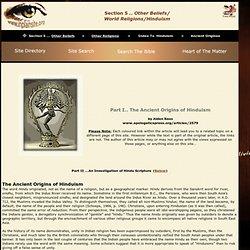 Ancient Origins Hinduism