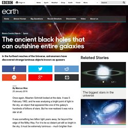 Earth - The ancient black holes that can outshine entire galaxies