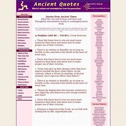 Ancient Quotes Polybius Quotations