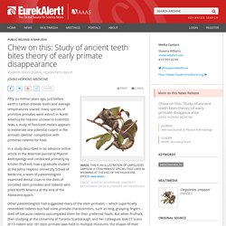 Chew on this: Study of ancient teeth bites theory of early primate disappearance