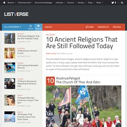 10 Ancient Religions That Are Still Followed Today