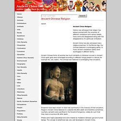 Ancient China Religions, Ancient Chinese Religious Beliefs
