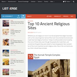 Top 10 Ancient Religious Sites