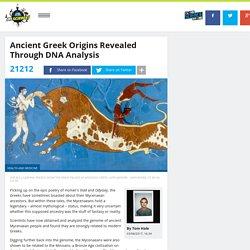 Ancient Greek Origins Revealed Through DNA Analysis