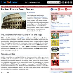 Ancient Roman Board Games