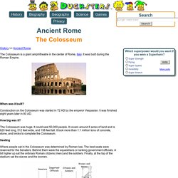 Ancient Rome for Kids: The Colosseum