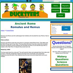 Ancient Rome for Kids: Romulus and Remus