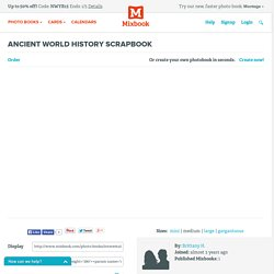Ancient World History Scrapbook - Interests Photo Book