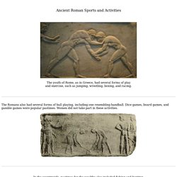 Ancient Roman Sports and Activities