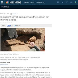 In ancient Egypt, summer was the season for making babies