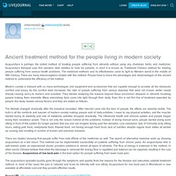 Ancient treatment method for the people living in modern society: cmharmony12