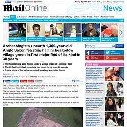Huge ancient Pagan hall unearthed at Lyminge, Kent