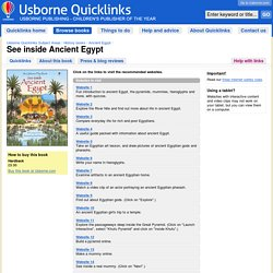 """See inside Ancient Egypt"" in Usborne Quicklinks"