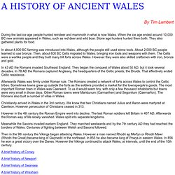 Ancient and Medieval Wales