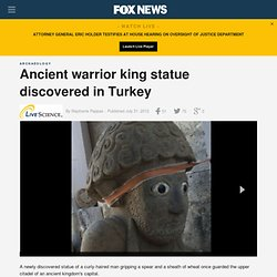 Ancient warrior king statue discovered in Turkey